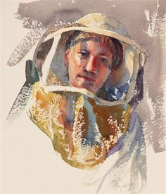 """Mary Whyte Beekeeper, Study for """"Beekeeper's Daughter"""""""