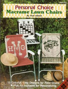 Free Macrame Lawn Chair Patterns | Personal Choice Macrame Lawn Chairs Pattern Book New | eBay