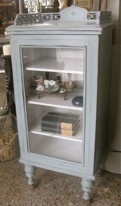 Perfect Vintage Glass Front Cabinet
