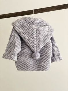 Baby Knitting Patterns Ravelry Ravelry: Baby jacket with hood pattern by Pia Trans Baby Knitting Patterns, Baby Cardigan Knitting Pattern, Knitting For Kids, Baby Patterns, Crochet Patterns, Knitting Baby Girl, Hood Pattern, Baby Barn, Baby Pullover