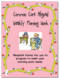 Common Core Aligned Morning Work Packet Templates