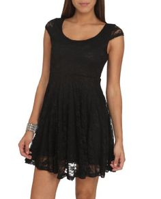 Wet Seal Women's Keyhole Lace Skater Dress XS « Dress Adds Everyday