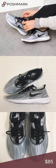 Women's Nike Juvenate Print Cool Grey Sneakers Women's Nike Juvenate Print Cool Grey Sneakers Style/Color: 749552-101  * Women's size 9.5  * NEW in box (no lid) * No trades * 100% authentic Nike Shoes Sneakers