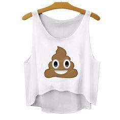 Poop Emoji Crop Top