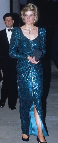 Princess Diana's 'Fit for a Princess' dress auction - Catherine Walker sequinned gown worn on a state visit to Australia, plus a charity ball in 1989