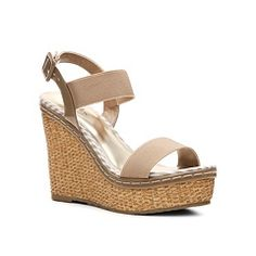 I could add a lace doily to the heel or flowers to the front strap: Charles by Charles David Tapia Wedge Sandal