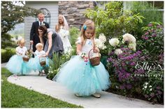 tutu's for the flower girls - Link to order these adorable tutus at bottom of blog post