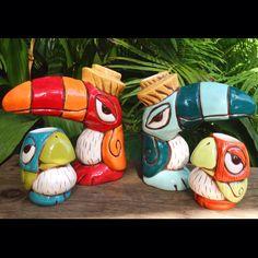 Toucan and chirp chirp tiki mugs by Tiki tOny