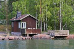 Old sauna by the sea, Finland