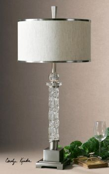 Campania Glass Table Lamp- 1 in stock