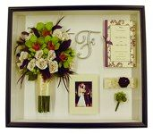 Shadowbox Gallery- website full of shadow box ideas for wedding flowers, invitations, and much more!