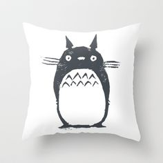 Totoro+2+Throw+Pillow+by+Tom+Henderson+-+$20.00
