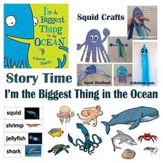 Story Time: I'm the Biggest Thing in the Ocean Crafts and Activities