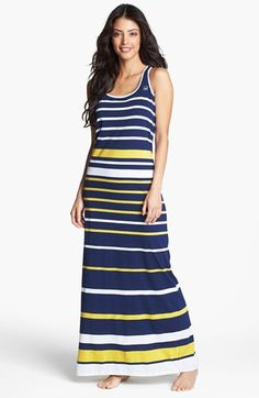 Sperry Top-Sider® Stripe Jersey Maxi Dress available at #Nordstrom
