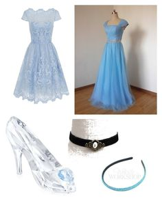 Cinderella by oncerpuff13 on Polyvore featuring polyvore, fashion, style, Chi Chi, Swarovski, women's clothing, women's fashion, women, female, woman, misses and juniors