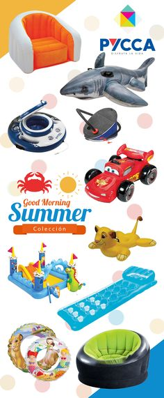 COLECCION GOOD MORNING SUMMER / PYCCA / PLAYERO / ESTILO / INFLABLES /PLAYA /MAR