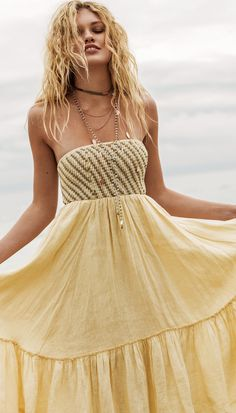 Boho ♥ Free People Shimmers in the Sky Maxi
