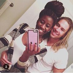 Cute interracial couple selfie #love #wmbw #bwwm #swirl