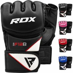 RDX Perforated Suede Palm Boxing Gloves Women/'s Training MMA White