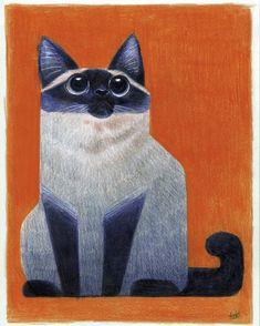 Cat Me, color pencils, 2019 : Art art illustration Art And Illustration, Illustrations, Kunst Inspo, Art Inspo, Cat Drawing, Siamese Cats, Community Art, Animal Drawings, Cat Art