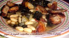 Zuppa+di+fagioli+cannellini+e+cavolo+nero