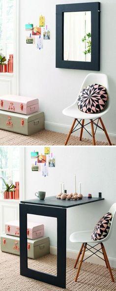 Raumsparende Ideen Für Die Wohnung Klapptisch Holz Klapptisch