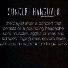 Concert Hangover