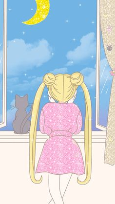 Aesthetic Luna Sailor Moon Wallpaper 4k in 2020 Sailor