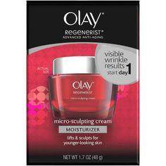 Olay Regenerist Micro-Sculpting Cream Moisturizer, 1.7 oz Use over retinols