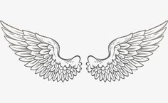 Vector wings PNG and Vector Hand Tattoos, Tribal Tattoos, Small Tattoos, Girl Tattoos, Tattoos For Women, Angel Wings Drawing, Angel Wings Tattoo On Back, Alas Tattoo, Wings Png