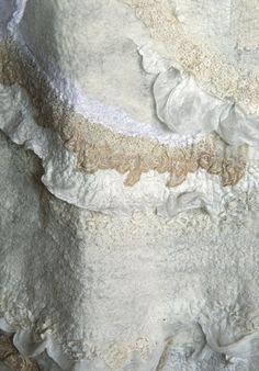 nuno felt with antique laces by Brita Stein http://brita-stein.blogspot.ch/