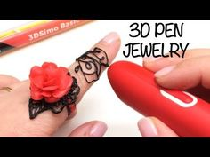 Drawing a ring in my finger with the basic- pen- DIY - Printer Pen - Ideas of Printer Pen - Drawing a ring in my finger with the basic- pen- DIY 3d Pen Stencils, 3d Drawing Pen, 3 D, Stylo 3d, Finger, 3d Printed Jewelry, Pen Art, 3d Printer, Drawings