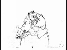 "John Lounsbery - Tony Animation : rough to color by David Nethery. Scene of ""Tony"" from Lady & the Tramp animated by John Lounsbery.  The rough animation (on twos) and the finished color version on ones. (see the animator's note to the assistant on the first drawing to put the scene on ones in Clean Up .)"