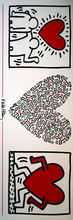 Keith HARING : Tryptic I, 1989