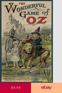 1921 Wizard of oz Vintage Game Box Cover Poster Wizard Of Oz Games, Wizard Of Oz Story, Old Board Games, Vintage Board Games, Game Boards, Vintage Books, Vintage Posters, Vintage Ideas, Vintage Movies