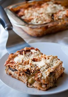 Gluten Free Vegan Lasagna (avocado in the sauce!)
