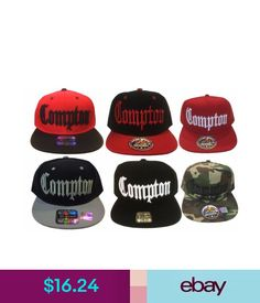 ade479785597a Hats Compton Bompton 3D Embroidered Flat Bill Snapback Baseball Hat Cap   ebay  Fashion