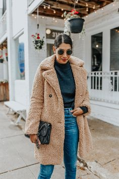 tan teddy coat