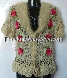 Handmade and Crocheted Knitwear Sweater (J1100015) - China Handmade Knitwear, J Knitwear
