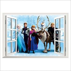 Home & Garden Industrious 2019 New Elsa Anna Princess Olaf 3d Wall Sticker For Home Decoration Kids Room Decals Frozen 2 Anime Movie Mural Art Pvc Posters Wall Stickers