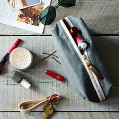 Waxed Canvas Toiletries Pouch: Pack your bags! #food52