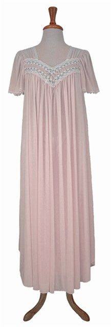 Miss Elaine® exclusive Silk Essence® fabric in an long length SHEER gown  with short cc2a3637d