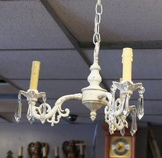 Stunning-Candelabra-Chandelier-W-Crystal-Spears-Octagons-Home-Decor-Rustic