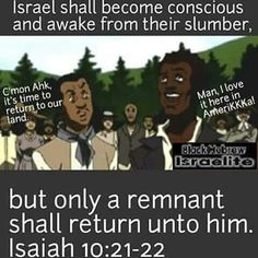 We have awakened, BUT NOT EVERY WOKE ISRAELITE WILL RETURN!!! Will you be counted amongst the wheat or the tare?  What issues of colorism, what the real name is, multiple wives or not, Yahushua's teachings/Torah over Paul's (not both-Yah doesn't share His Glory with a prophet teaching TO GENTILES PERIOD), Ruach HaKodesh female or male, returning to The Laws, and paternal negroid descent are we still arguing over? Get your hearts right, family. This is how you can be woke and STILL GET…