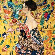 Gustav Klimt - Donna con ventaglio