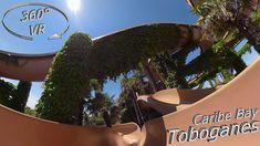 Caribe Bay (Aqualandia) 2019 Toboganes (right) VR Onslide Music Clips, Vr, Make It Yourself, Pool Slides