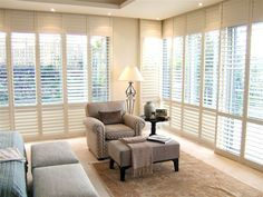 Plantation and Roller Shutters, Shade Systems and Indoor or Outdoor Blinds at Sola Shade House Blinds, Blinds For Windows, Bedroom Shutters, Indoor Blinds, Curtain Hardware, Roller Shutters, Protecting Your Home, Diy Curtains, House Design