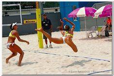 Flying Beach Volleyball