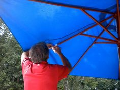 How To Repair A Wood Market Umbrella For More Years Of Shade.