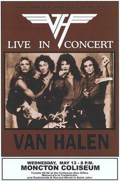 Van Halen Live In Concert Poster Rock N Roll Music, Rock And Roll, Rock Band Posters, Vintage Concert Posters, Classic Rock Bands, Tour Posters, Event Posters, Movie Posters, Eddie Van Halen
